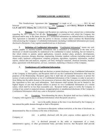Formular Elektronisch Confidentiality Agreement The