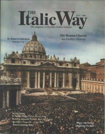 Issue XXV - Italic Institute of America