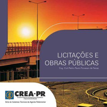 Licitações e Obras Públicas - Crea-PR