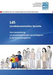 LdS – Lerndokumentation Sprache Eine ... - FörMig Berlin