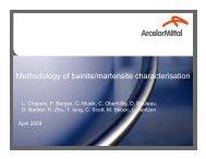 Methodology of Bainite/martensite Characterization - AlEMI