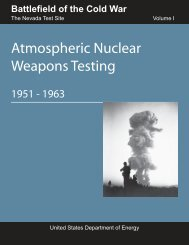 Atmospheric Nuclear Weapons Testing - U.S. Department of Energy