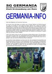 Hallo liebe Mitglieder und Freunde der Germania, wer braucht ...