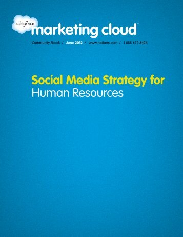 Social Media Strategy for Human Resources - Radian6