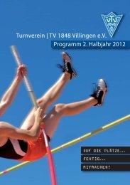 Turnverein | TV 1848 Villingen e.V. Programm 2. Halbjahr 2012