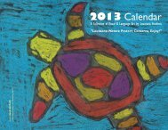 Environmental Awareness Art & Language Arts 2013 Calendar
