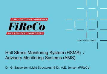 Hull Advisory Monitoring Systems (AMS/HMS)