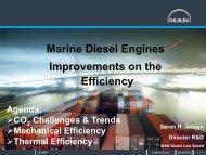 Marine Diesel Engines Improvements on the Efficiency