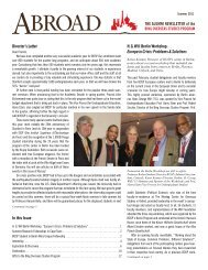 THE ALUMNI NEWSLETTER of the H. G. Will Berlin Workshop ...