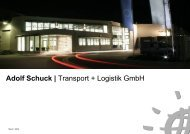 Adolf Schuck | Transport + Logistik GmbH