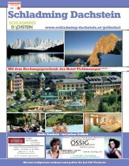 Juni 21.–23. + 23.–25. Golffeste 2009 - Golfclub Dachstein Tauern