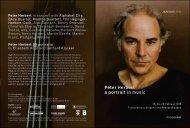 Peter Herbert a portrait in music - EDV-Consult