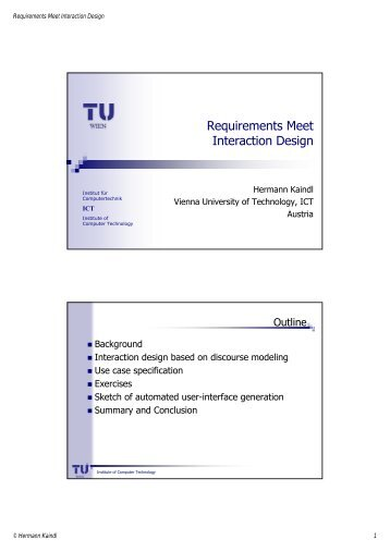 Requirements Meet Interaction Design - Association for Computing ...