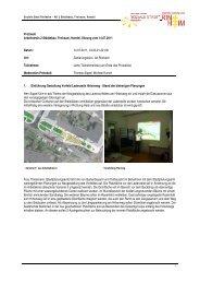 Protokoll Arbeitskreis 2 Städtebau, Freiraum, Handel, Sitzung vom ...