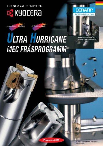 ULTRA HURRICANE MEC FRÄSPROGRAMM - Scheinecker GmbH ...