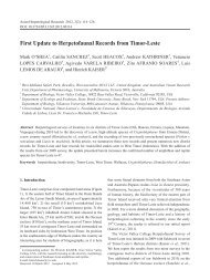 First Update to Herpetofaunal Records from Timor-Leste