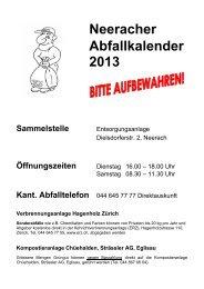 Abfallkalender 2013 - Neerach