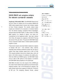 MAN B&W win engine orders for eleven container vessels
