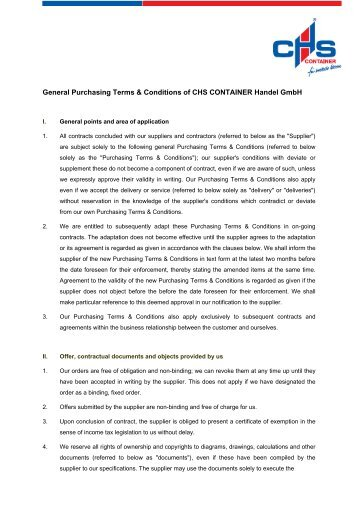 Download as PDF (67 KB) - CHS CONTAINER Handel GmbH