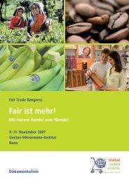 Neue Akteure im Fairen Handel - Eine Welt Netzwerk Bayern