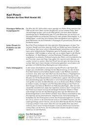 Presseinformation Karl Pirsch