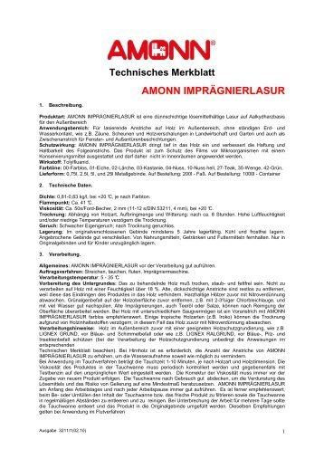 Technisches Merkblatt AMONN ... - AMONNCOLOR
