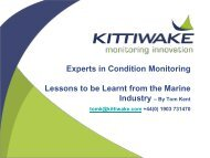 Experts in Condition Monitoring Lessons to be Learnt from the Marine