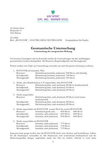 Geomantische Untersuchung