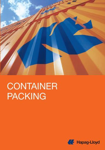CONTAINER PACKING - Hapag-Lloyd