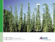 SOLUTIONS FOR the brewing industry - KHS GmbH