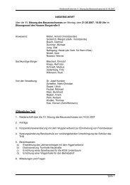 Niederschrift der 11. Sitzung - Stadt Radevormwald
