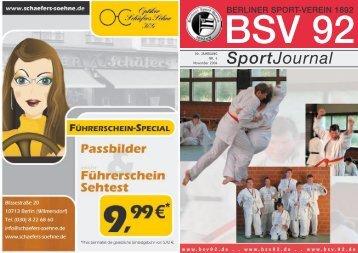 SportJournal - Berliner Sport-Verein 1892 eV: Startseite