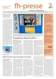 fh-presse 2/2012 - Fachhochschule Dortmund