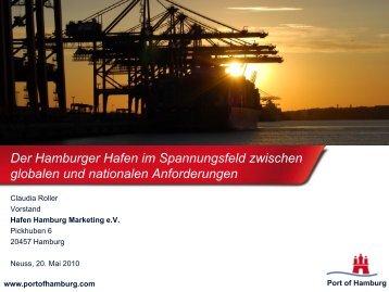 Der Hamburger Hafen im Spannungsfeld zwischen globalen und ...