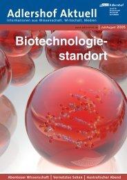 Biotechnologie- standort - Adlershof