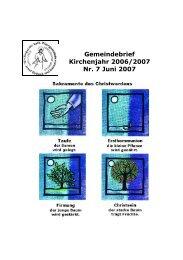 Gemeindebrief Kirchenjahr 2006/2007 Nr. 7 Juni 2007 - St-Josef ...
