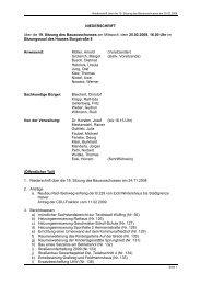 Niederschrift der 19. Sitzung - Stadt Radevormwald
