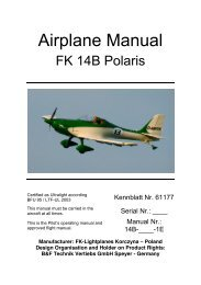 FK14B Flight Manual (English) - FK-Lightplanes