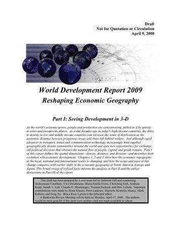World Development Report 2009 Reshaping ... - Euromedina