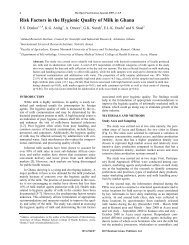 Risk Factors in the Hygienic Quality of Milk in ... - Bentham Science