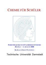 chemie für schüler - Fachbereich Chemie - Technische Universität ...
