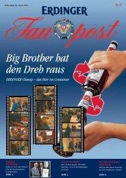 ERDINGER Champ – das Bier im Container