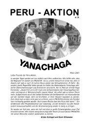 Rundbrief vom März 2007 - Peru-Aktion