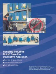 Fluid Dispensing System - Advanced Handling Services