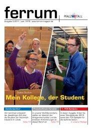 ferrum Ausgabe 5-2011 - Pfalzmetall
