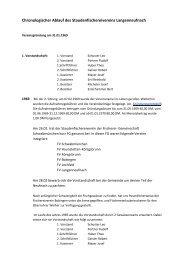 Chronologischer Ablauf des Staudenfischereivereins Langenneufnach