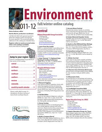 central fall/winter online catalog - University of Wisconsin-Extension