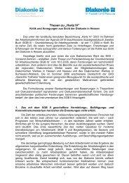 Thesen zu Hartz IV - Diakonisches Werk in Kurhessen-Waldeck