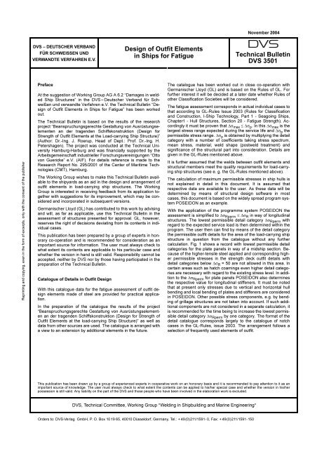 Design of Outfit Elements in Ships for Fatigue Technical ... - EWF