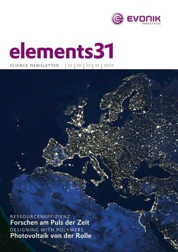 elements31 - Evonik Industries